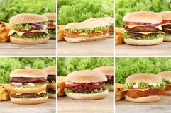 Hamburgerów dłoniaki i Fotografia Stock