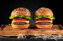 Hamburgerów hamburgery zdjęcia royalty free