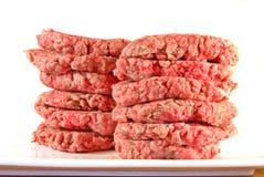 hamburgerów patties Obrazy Stock