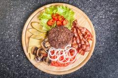Hamburgerów składniki Zdjęcie Stock