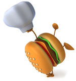Hamburger. Happy Hamburger, 3d generated picture Stock Photos