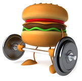 Hamburger. Happy Hamburger, 3d generated picture Royalty Free Stock Images