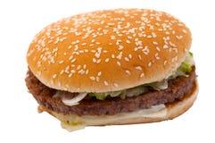Hamburger. On a white background Stock Photo