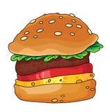 Hamburger. An illustration of a tasty hamburger Royalty Free Stock Image