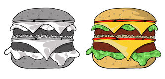 Hamburger Illustration de Vecteur