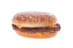 Hamburger. Classic American food removed on a white background Stock Image