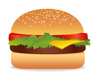 Hamburger. Vector illustration on white background Royalty Free Stock Photo
