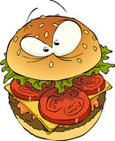 Hamburger. On a white background vector Royalty Free Stock Photos