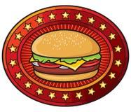 Hamburger. Commercial for a hamburger, hamburger over Stock Photography