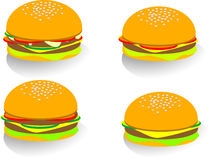 Hamburger. A set of vector hamburger Stock Photography