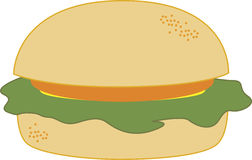 A hamburger. With meat and vegetable stock illustration