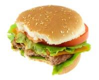 Hamburger. Isolated on white background Stock Images