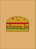 hamburger illustrazione di stock