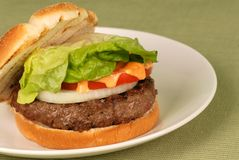 Hamburger with aioli Stock Images
