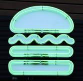 Hamburger al neon fotografia stock libera da diritti