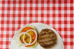 Hamburger al picnic fotografie stock libere da diritti