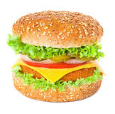 Hamburger american background barbecue beef Royalty Free Stock Photos