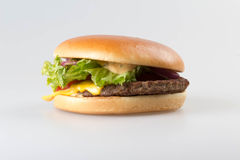 Hamburger americano no fundo branco Imagem de Stock