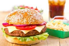 Hamburger And French Fries Royalty Free Stock Photo