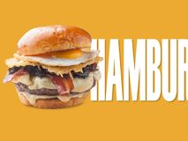 Hamburger. Applied to notice design or promotional sign Stock Images