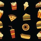 Hamburger art pattern Royalty Free Stock Photos