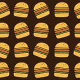 Hamburger art pattern Stock Photos