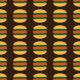 Hamburger art pattern Royalty Free Stock Image