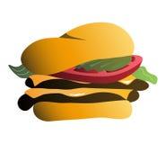 Hamburger auf Brötchen stock abbildung