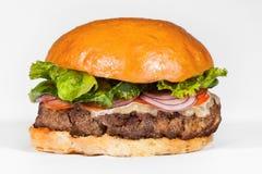 Hamburger auf einem weißen Hintergrund Lizenzfreie Stockfotos