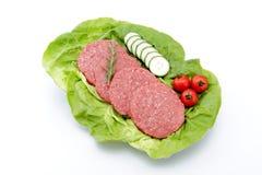Hamburger auf weißem Hintergrund lizenzfreie stockfotografie