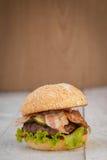Hamburger avec le lard Image libre de droits