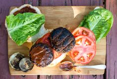 Hamburger basato pianta fotografia stock