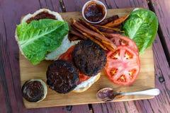 Hamburger basato pianta fotografia stock libera da diritti