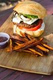 Hamburger basato pianta immagine stock libera da diritti