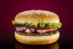Hamburger bavarois Photographie stock libre de droits