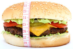 Hamburger, beef cheese burger with tomato Royalty Free Stock Photos