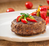 Hamburger beef steak Stock Image