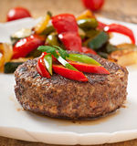 Hamburger beef steak Royalty Free Stock Photos