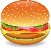 Hamburger. Big tasty hamburger isolated on a white background Royalty Free Stock Image