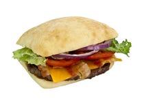 Hamburger blt 3/4 view Stock Image