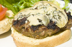 Hamburger with Blue Cheese stock photography