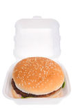 Hamburger in a box Royalty Free Stock Photo