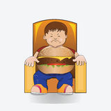 Hamburger boy. Stock Photo