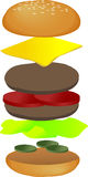 Hamburger breakdown Stock Image