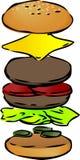 Hamburger breakdown Stock Photography