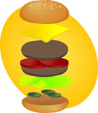 Hamburger breakdown stock illustration