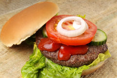 Hamburger on bun royalty free stock image