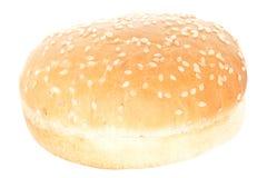 Hamburger Bun. One empty hamburger bread bun. Isolated on white Royalty Free Stock Images
