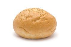 Hamburger Bun. Isolated on white Stock Images
