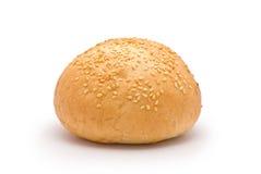 Hamburger Bun. Isolated on white Royalty Free Stock Photography